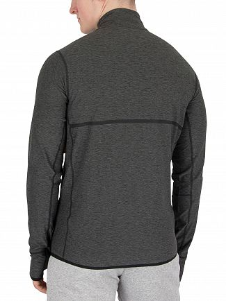 New Balance Heather Charcoal Transit Quarter Zip Top