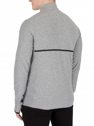 New Balance Grey Transit Quarter Zip Top
