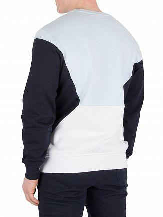 Nicce London Blue/Navy/White Panelled Sweatshirt