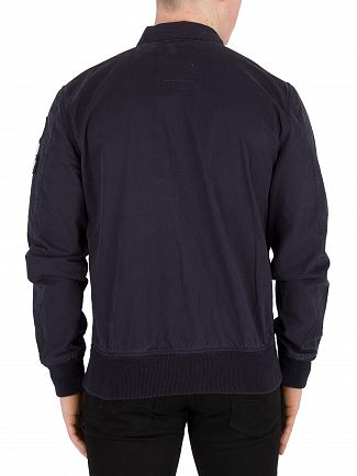 Schott Navy Bennet Patch Jacket