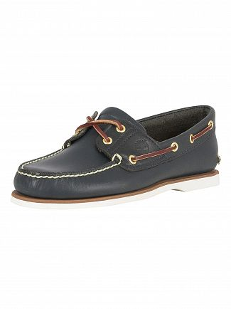 Timberland Navy Classic Leather Boat Shoes