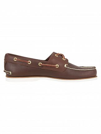 Timberland Dark Brown Classic Leather Boat Shoes
