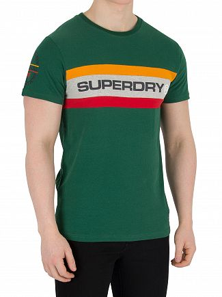 Superdry Slam Green Trophy Chest Band T-Shirt