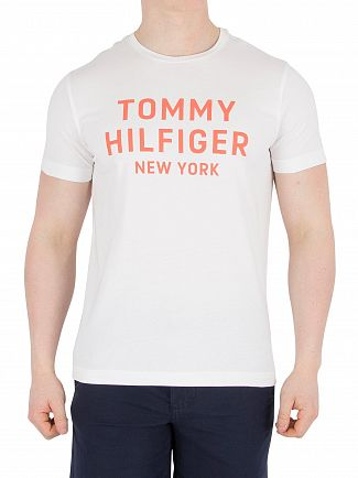 Tommy Hilfiger Bright White Dashing Graphic T-Shirt
