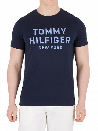 Tommy Hilfiger Navy Blazer Dashing Graphic T-Shirt