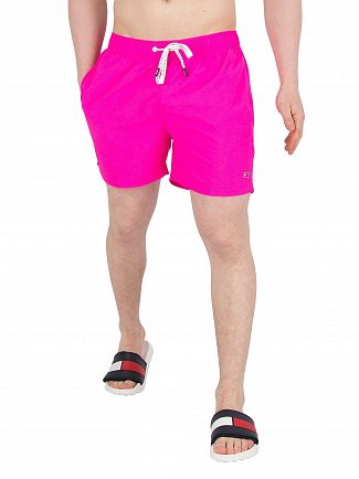 Tommy Hilfiger Pink Glow Short Drawstring Swim Shorts