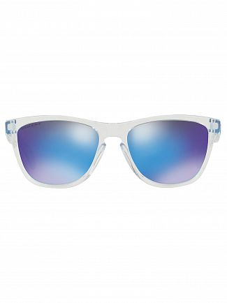 Oakley Crystal Clear/Sapphire Frogskins Prizm Sunglasses