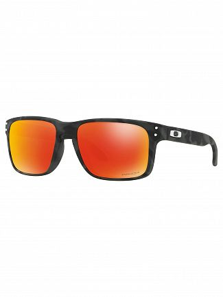 Oakley Black Camo/Ruby Holbrook Prizm Sunglasses