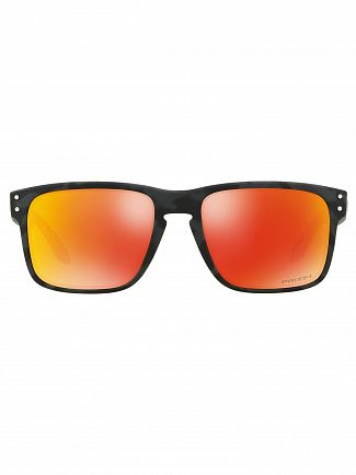 Oakley Black Camo/Ruby Holbrook Prizm Sunglasses
