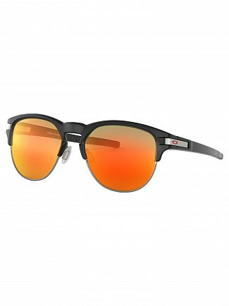 Oakley Polished Black Ink/Ruby Latch Key Prizm Sunglasses