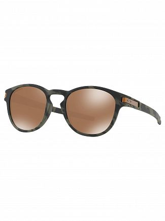 Oakley Tungsten Brown/ Olive Black Latch Prizm Sunglasses