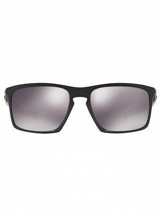Oakley Polished Black/Black Iridium Silver Prizm Sunglasses