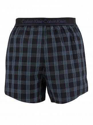 Calvin Klein Stripe Symphony/Dodger Blue 2 Pack Slim Fit Woven Boxers