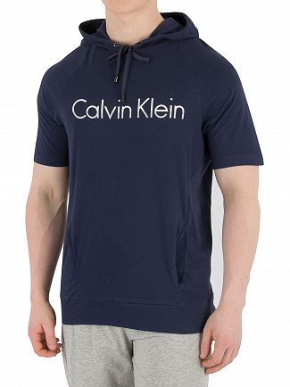 Calvin Klein Blue Shadow Graphic Hooded T-Shirt