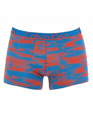 Calvin Klein Commotion Summer Blue Printed Trunks