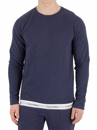 Calvin Klein Blue Shadow Heather Waistband Sweatshirt