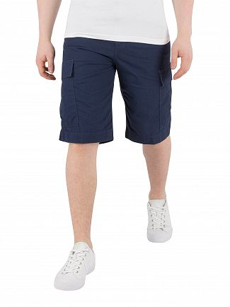 Carhartt WIP Blue Rinsed Regular Cargo Shorts