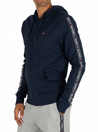 Tommy Hilfiger Navy Blazer Zip Logo Tapping Hoodie