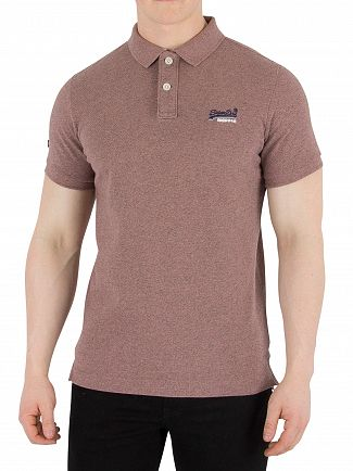 Superdry Haze Pink Grindle Classic Pique Polo Shirt