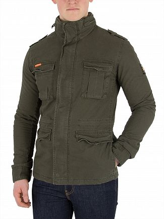Superdry Khaki Classic Rookie Military Jacket