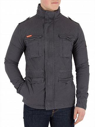 Superdry Carbon Grey Classic Rookie Military Jacket