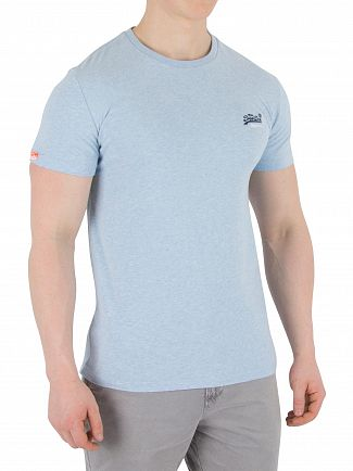 Superdry Pastel Blue Marl Orange Label Vintage EMB T-Shirt