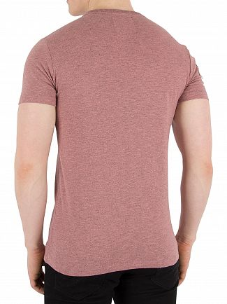 Superdry Haze Pink Grindle Premium Goods Duo T-Shirt