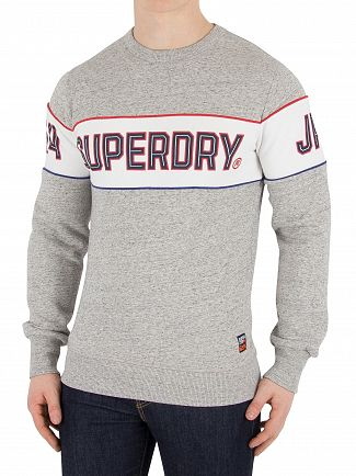 Superdry Street Works Grit Retro Stripe Sweatshirt