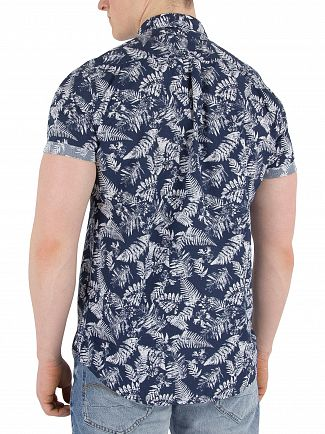 Superdry Tropical Fern Navy Shoreditch Buttoned Down Shirt