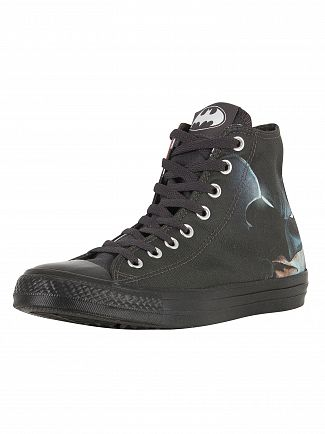 Converse Black/White/Black CTAS HI Batman Trainers