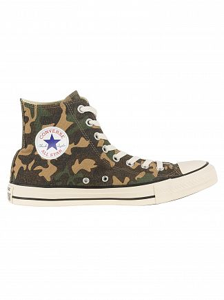 Converse Fatigue Green/Natural/Egret CTAS HI Camo Trainers