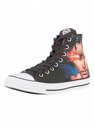 Converse Black/White/Black CTAS HI Superman Trainers
