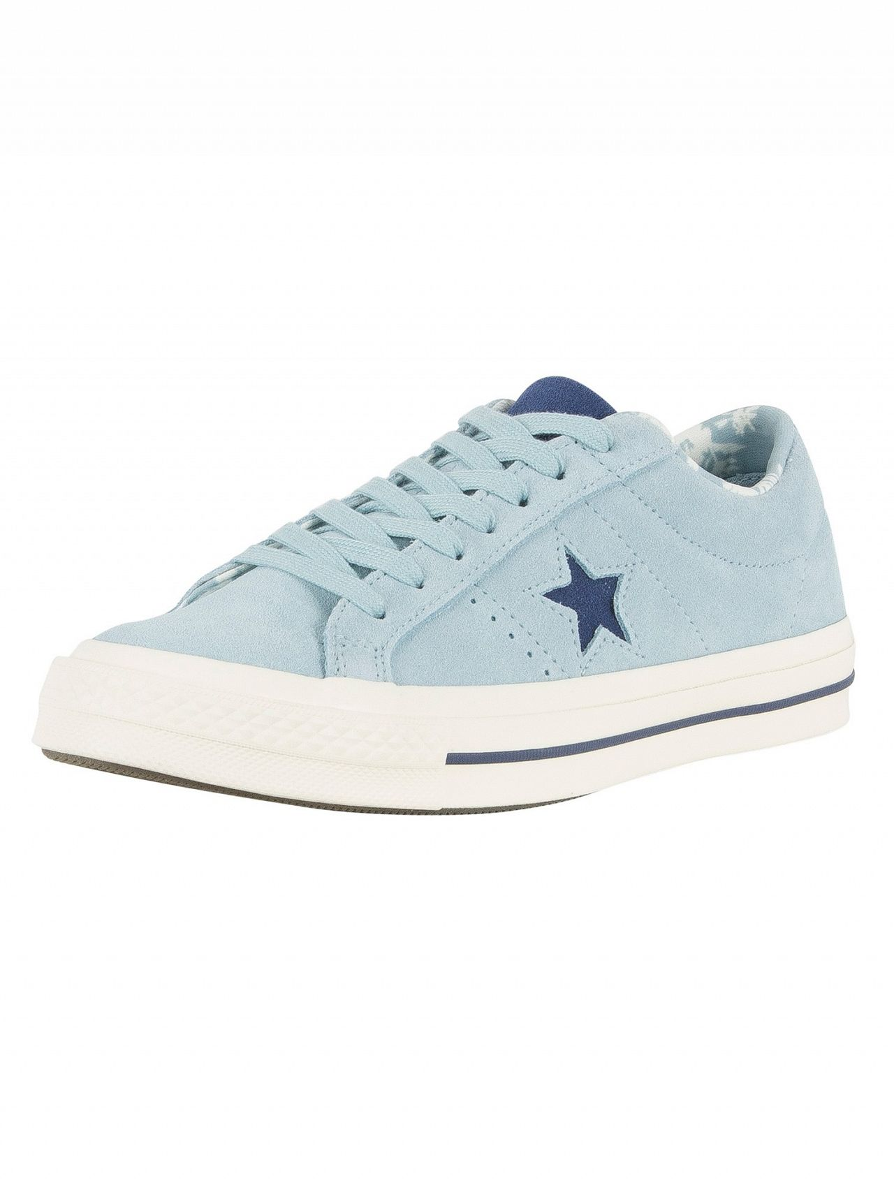 28950378d32bb4 Converse Ocean Bliss Navy Egret One Star OX Trainers