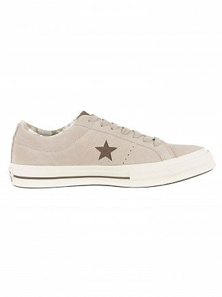 Converse Papyrus/Dark Chocolate/Egret One Star OX Trainers