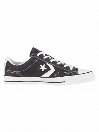 Converse Almost Black/White/Black Star Player OX Trainers
