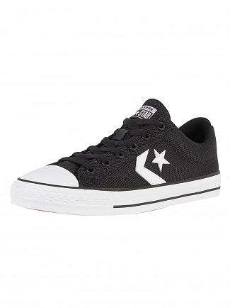 Converse Black/White/Black Star Player OX Trainers