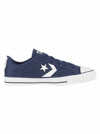 Converse Navy/White/Black Star Player OX Trainers