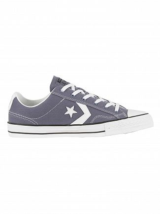 Converse Light Carbon/White/Black Star Player OX Trainers