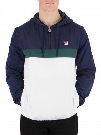 Fila Vintage White, Peacoat, J Bug Cipolla 1/2 Zip Pullover Jacket