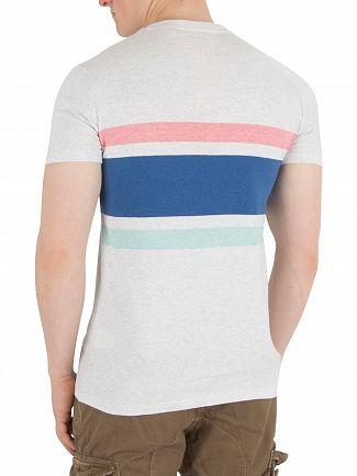 Superdry Silver Birch Marl O L Hardwick Stripe T-Shirt