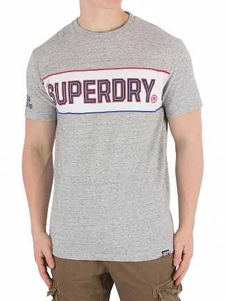 Superdry Street Works Grit Retro Stripe Box Fit T-Shirt