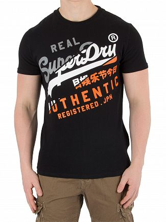 Superdry Black Vintage Authentic T-Shirt