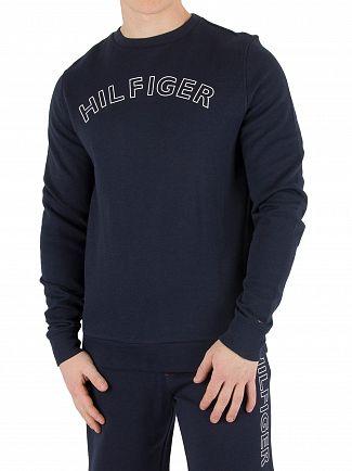 Tommy Hilfiger Navy Blazer Outline Logo Sweatshirt