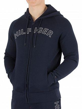 Tommy Hilfiger Navy Blazer Outline Logo Zip Hoodie