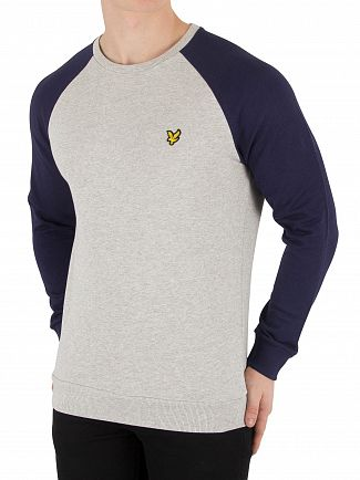 Lyle & Scott Navy Lightweight Raglan Sweatshirt