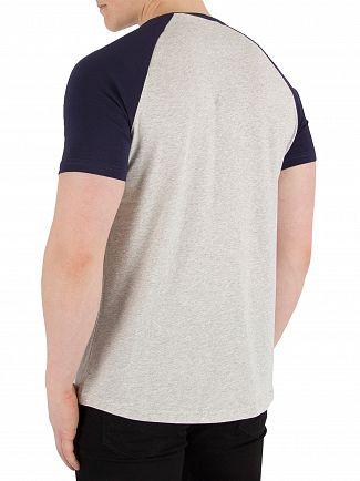 Lyle & Scott Light Grey Marl Raglan Ringer T-Shirt