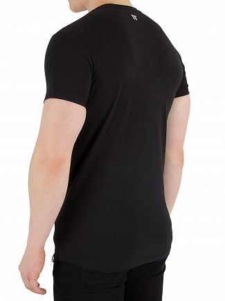 11 Degrees Black Muscle Fit T-Shirt