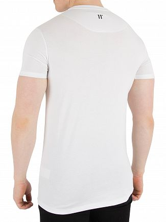 11 Degrees White Muscle Fit T-Shirt