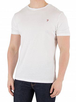 Farah Vintage White/Navy Dornoch 2 Pack T-Shirts