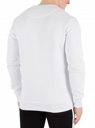 Fresh Couture White Applique Sweatshirt